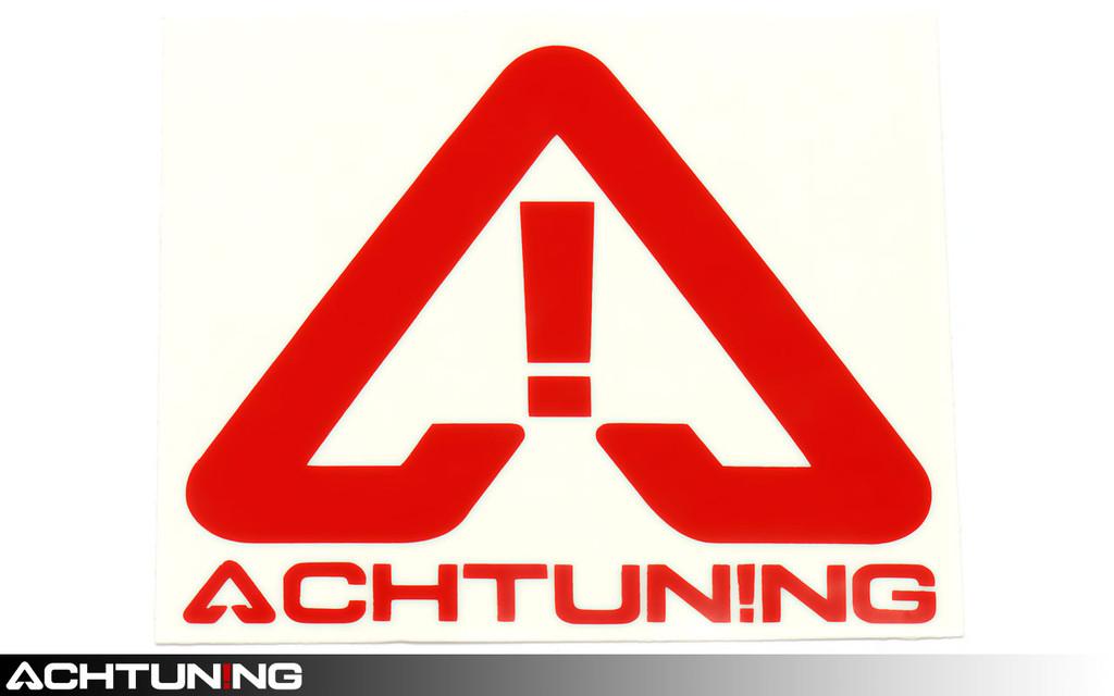 Achtuning Logo Text Multi Piece Sticker Red