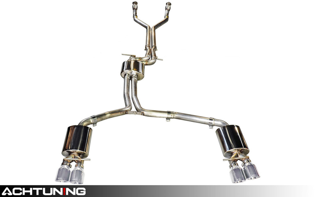AWE Tuning 3015-42012 Catback Quad Tip Touring Exhaust Audi C7 S7