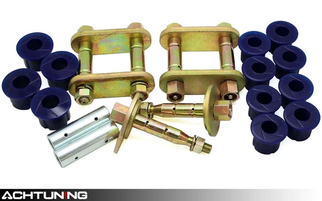 SuperPro KIT136SK Rear Leaf Spring Greasable Shackle and Bushing Kit Nissan Frontier