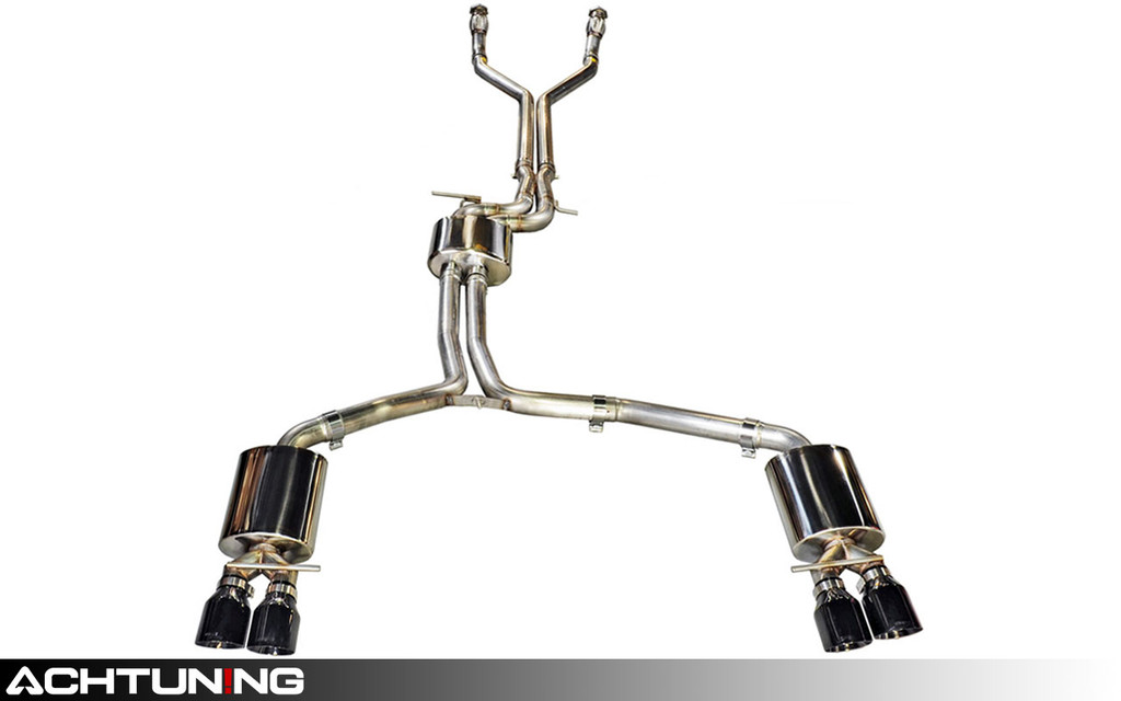 AWE Tuning 3015-43014 Catback Quad Tip Touring Exhaust Audi C7 S7