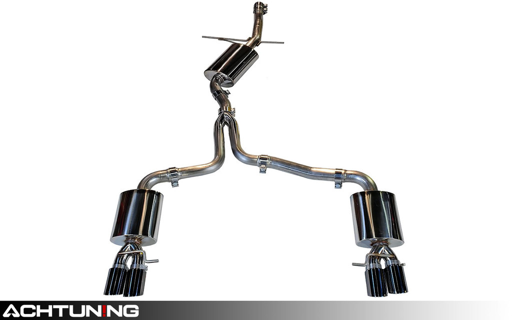 AWE Tuning 3015-43020 Catback Quad Tip Touring Exhaust Audi B8.5 A4 2.0T