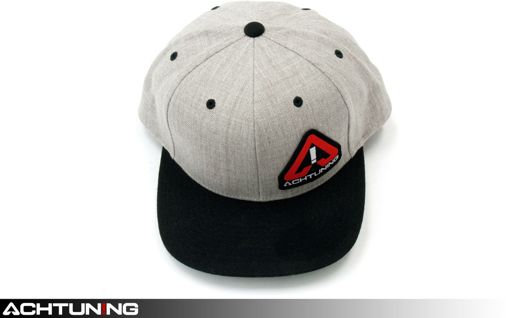 Achtuning Hat Black and Grey with Red and White Logo