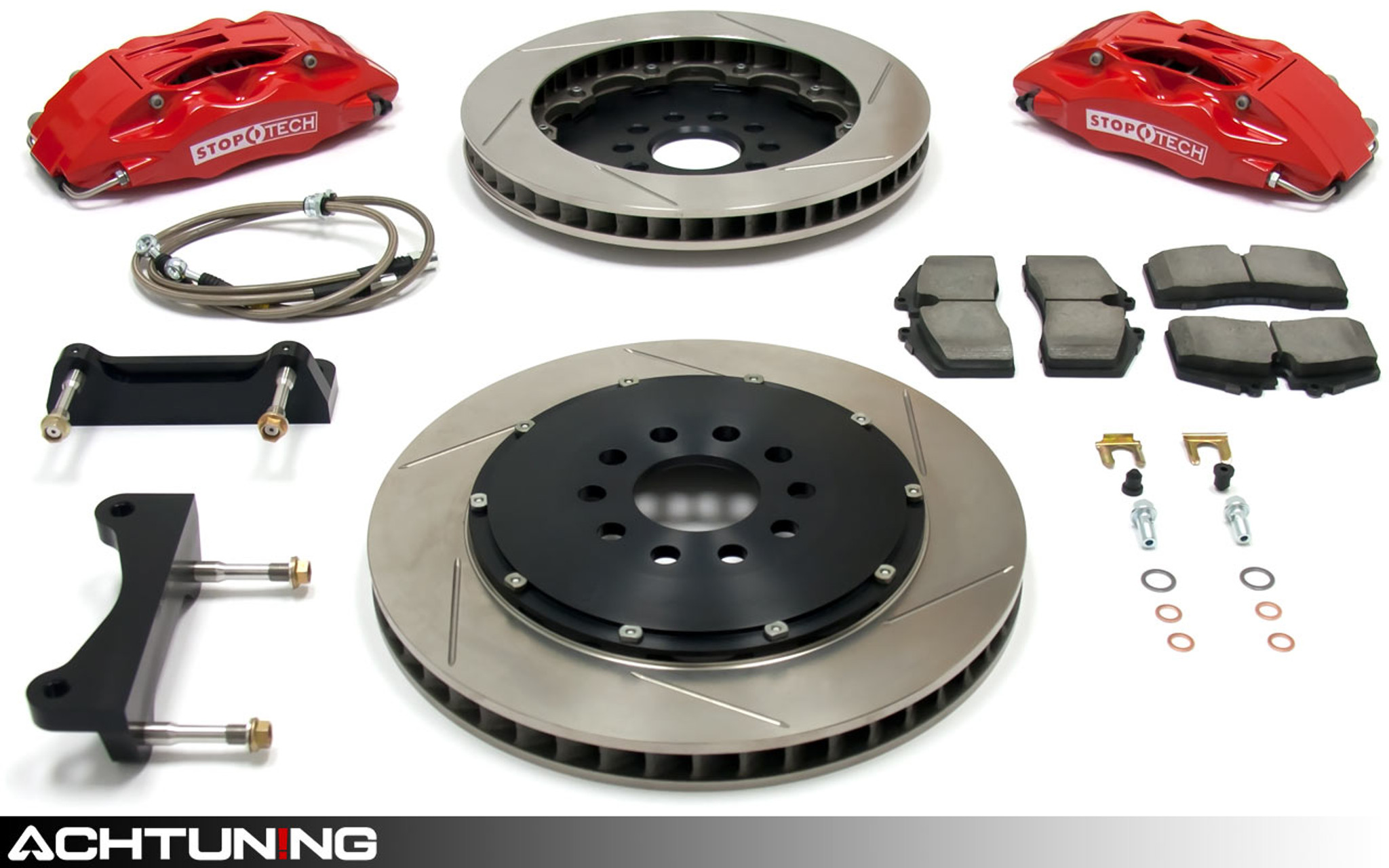 Max Brakes Front Fits 2016-2018 Chevrolet Cruze Rear E-Coated Slotted Drilled Rotors w//Ceramic Pads Elite Brake Kit KT181783