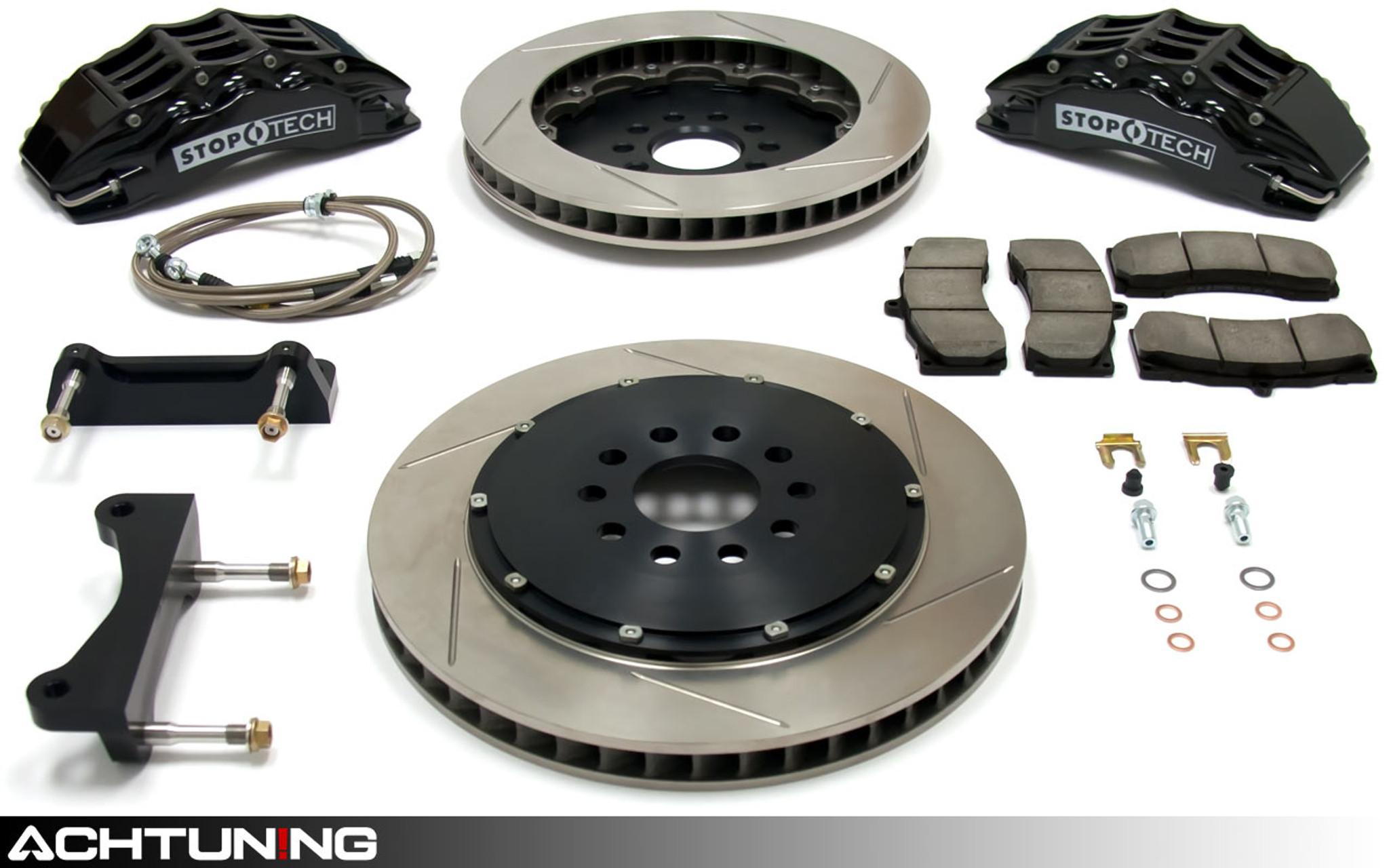 Max Brakes Front /& Rear Elite Brake Kit TA147583 E-Coated Slotted Drilled Rotors + Metallic Pads Fits: 2013 13 Hyundai Genesis Cpe w//4 Piston Calipers