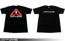 Achtuning black T-shirt with Red and White Logo