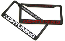 Achtuning License Plate Frame in Red or White Lettering