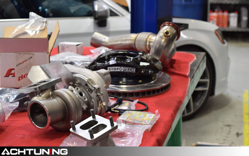 Audi S3 gets APR's Stage 3 Turbo Kit and StopTech Big Brake Kit