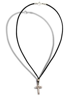 Guitar Bead Cross Necklace