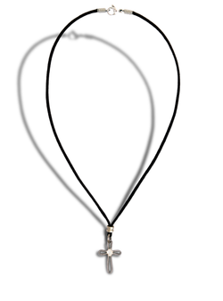 Guitar String Cross Necklace