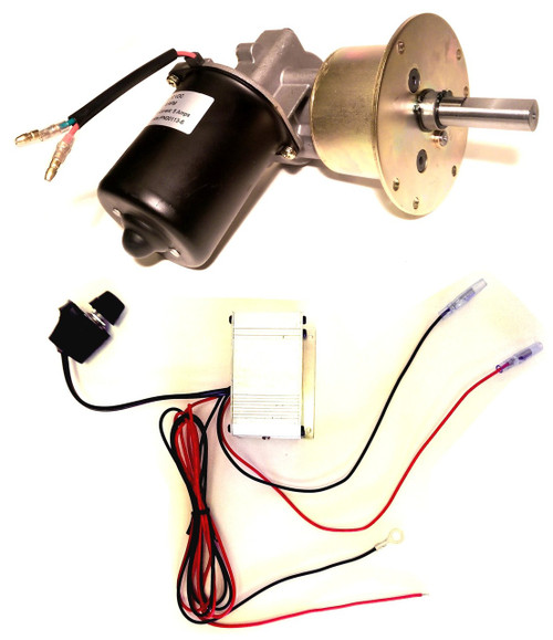 High Torque 6 RPM Conveyor and Rotisserie Gear Motor 12V DC  Reversible Variable Speed