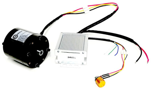 """PN00110-24 - 0.4 hp 3/8"""" Bore Hollow Shaft Brushless 24v DC Fan Blower Motor 2500 RPM Variable Speed Reversible with Soft-start Feature"""