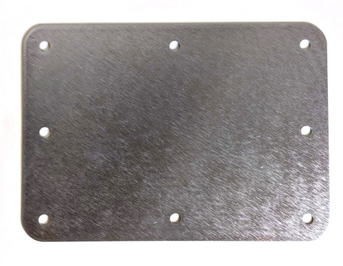 "Solid Aluminum Blank Mounting Control Panel 1/16"" Thick 7"" x 5"""