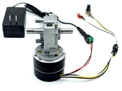 24v bldc gear motor with power adapter by Makermotor