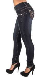 Plus Size High Waist, Butt Lifting, Skinny Leg Jeans - SF85098MS