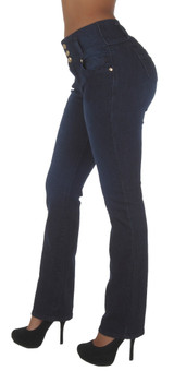 Plus Size, Butt Lifting, Levanta Cola, High Waist, Boot Leg Jeans - N452BT-P