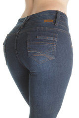 Plus Size Butt Lifting Levanta Cola High Waist Straight Leg Jeans - FCH138BTP