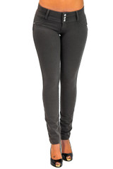 Premium Stretch Cotton,Butt lift,Levanta Cola,Skinny Leg Fashion Pants - CF-WIHT-3YA8