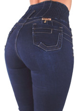Plus Size / Junior Brazilian Design Butt Lift High Elastic Waist Skinny Jeans - Y1969