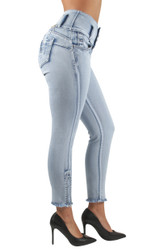 Womens Plus / Juniors Size Colombian Design Butt Lift  High Waist Skinny Jeans - VR-5W139S