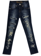 Girls Kids Stretch Pockets Skinny Denim Jeans Or Shorts (MLG1) - MLG1