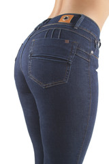 Women's Juniors/Plus Size, Butt Lift, Push Up, Mid Waist, Skinny Jeans - CY76