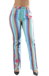 Women's Missy /Plus Size Bell Bottom High Waist Flared Bootleg Wide Fit Jeans - AE900