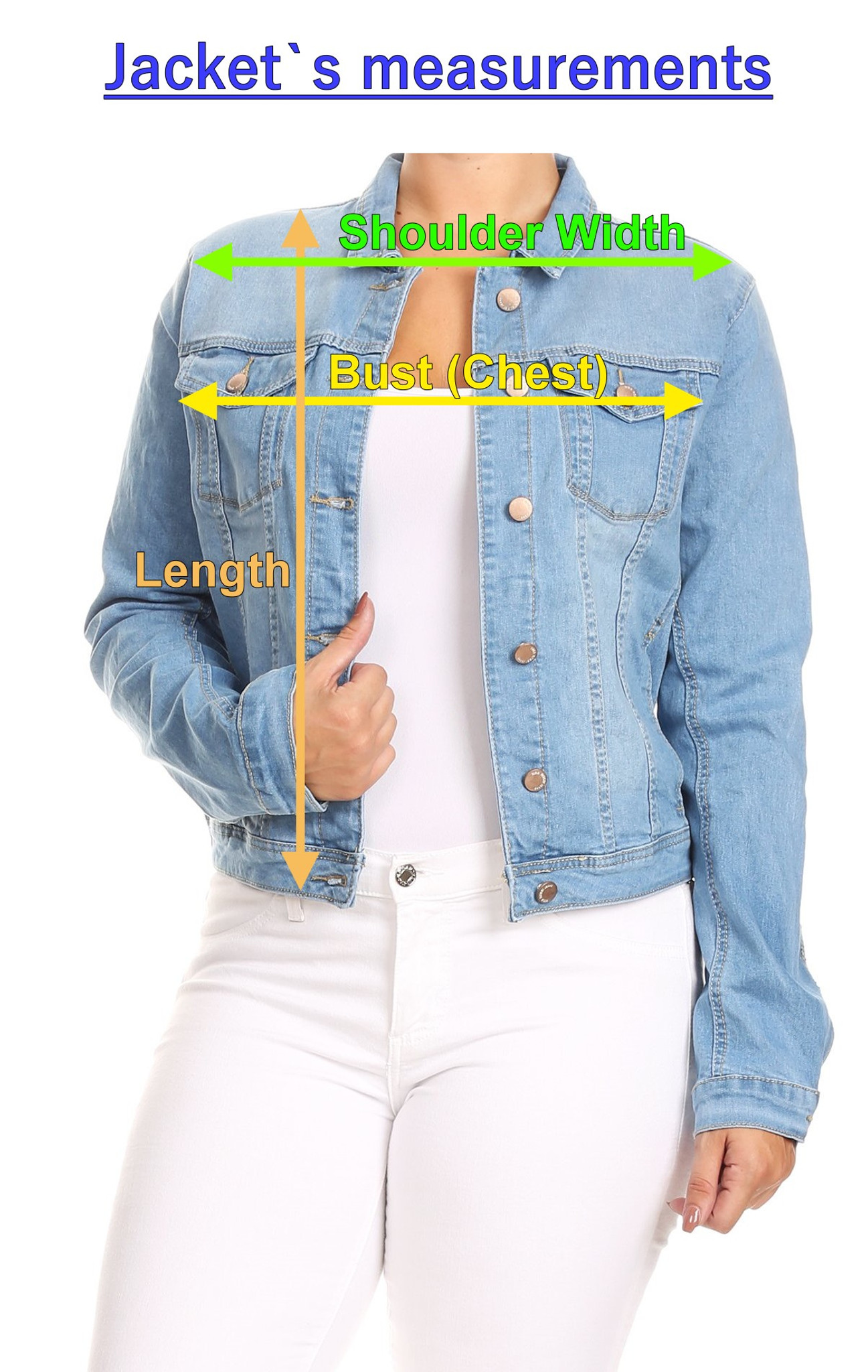 c68259870 Women's Juniors Boyfriend Premium Denim Jackets Long Sleeve Jean Coats -  JACKET-WA18