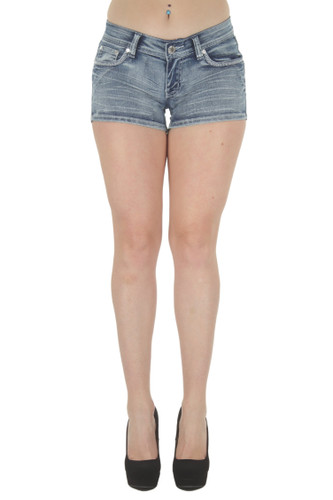 Plus Size, Butt Lifting, Levanta Cola, Denim Booty Shorts - F2L-35057MSH