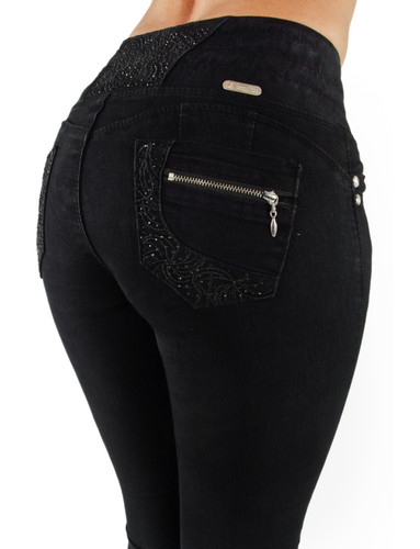 Plus / Junior Size Butt Lift High Elastic Waist Skinny Women Denim Jeans - 7A192S