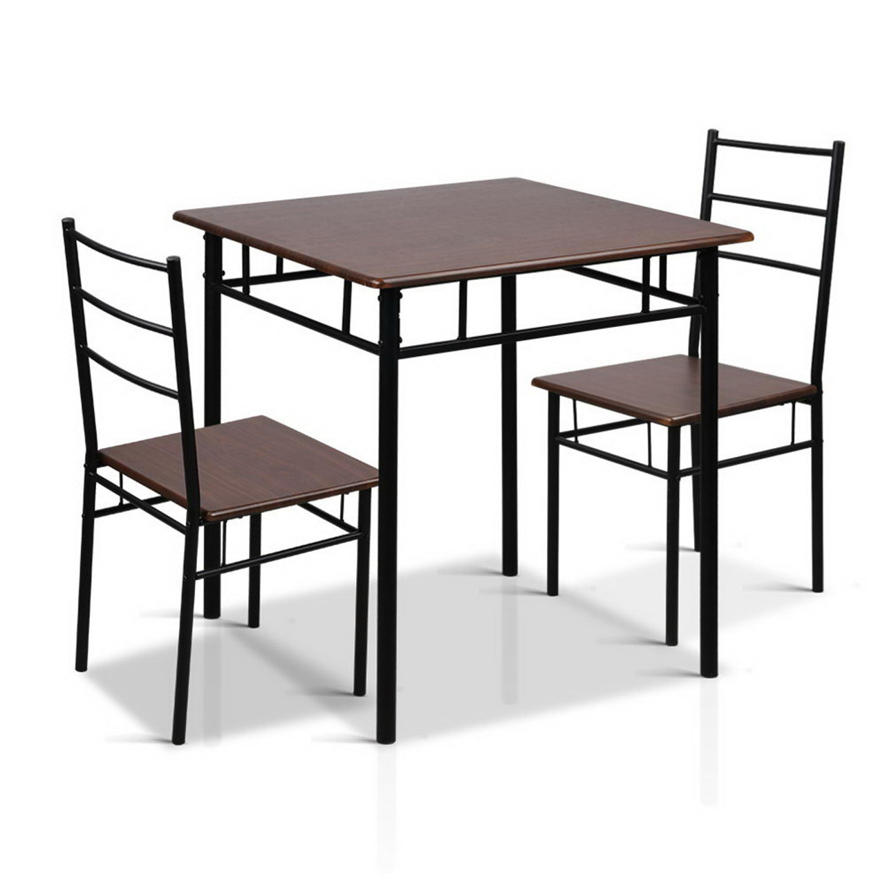 Free shipping for all deliveries within australia artiss metal table and chairs walnut black