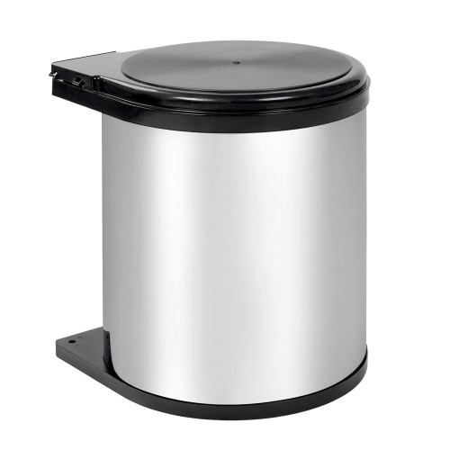 Auto Swing Out Lid Stainless Steel Bin