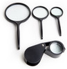 4Pc Hand Held Glass Combination Magnifier Set ( No Plastic Lenses )