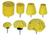 "7PC 1/4"" Shank Assorted Cloth Buffs Yellow"