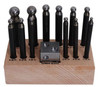 14pc Dapping Block And Punch Set