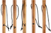 23pc Hiking Stick Animal Design And Paracord Hand Strap Set