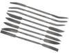 "Italian Style Wood Rasp Cut Riffler File Set 8pc 7-1/2"""