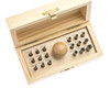 Bezel Setting Punch Set In Wood Box With 16 Punches