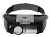 Head Magnifier 3 Lens With Led Light 1.5X-10.X Range