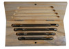4PC Pin Vise Set in Wooden Box