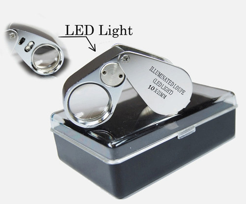 10X 21mm, LED Lighted Jewelers Loupe