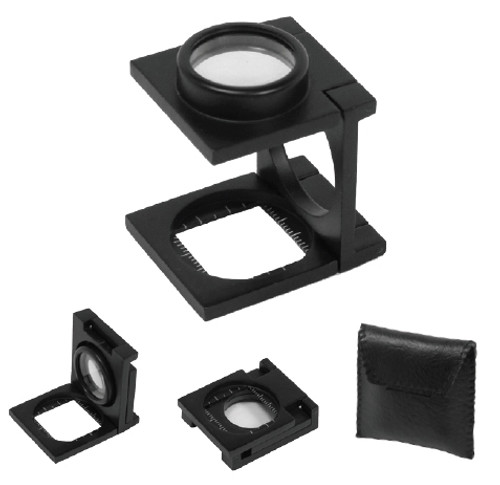 """Folding Magnifier with Ruler Markings on Base 14X, Lens Dia: 3/4"""""""