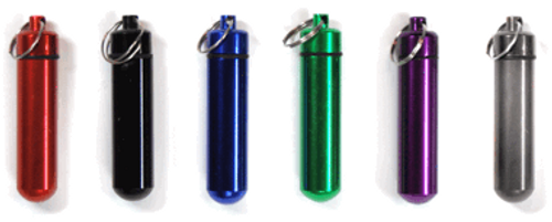 "ID/Pill Holder Round Bottom with Keychain 2- 3/4"" 6PC"