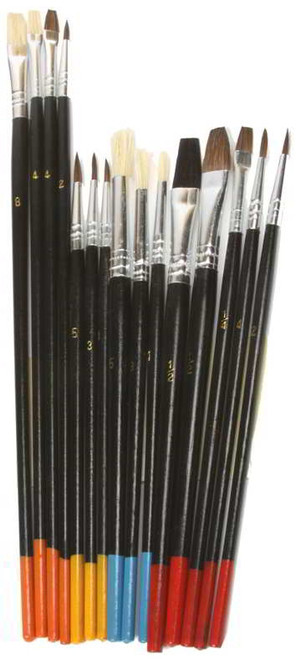 15Pc Artist Brush Set