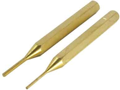 Brass Pin Punch Set 2Pc
