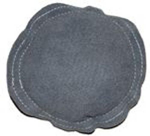 "9"" Round Grey Leather Bench Block Sand Pad"