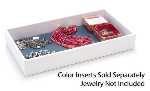 """2"""" ABS Jewelry Tray White Case Of 20"""