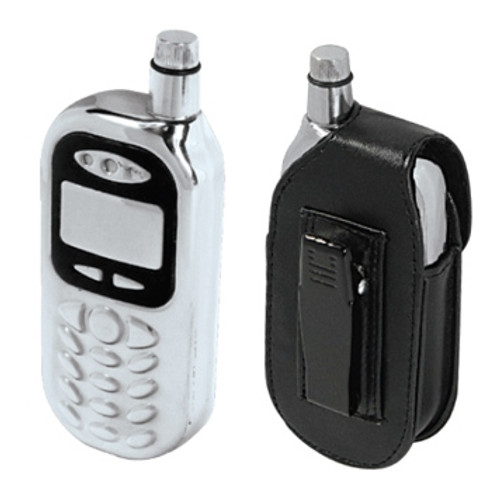 4oz Stainless Steel Discreet Cell Phone Hip Flask