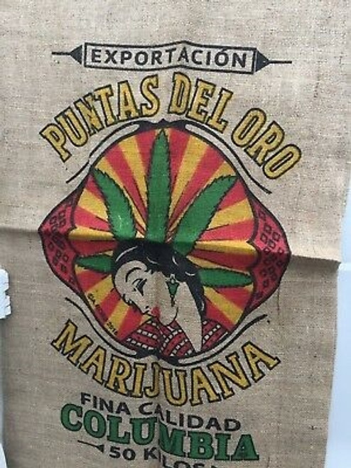 Weed Sack Burlap Bag Columbia