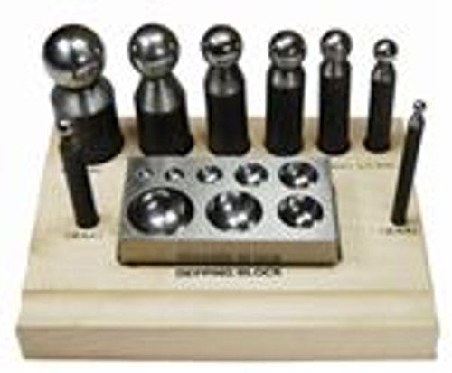 10pc Dapping Block & Punch Set