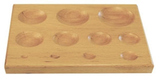 Beech Wood 11 Oval Cavity Dapping Block
